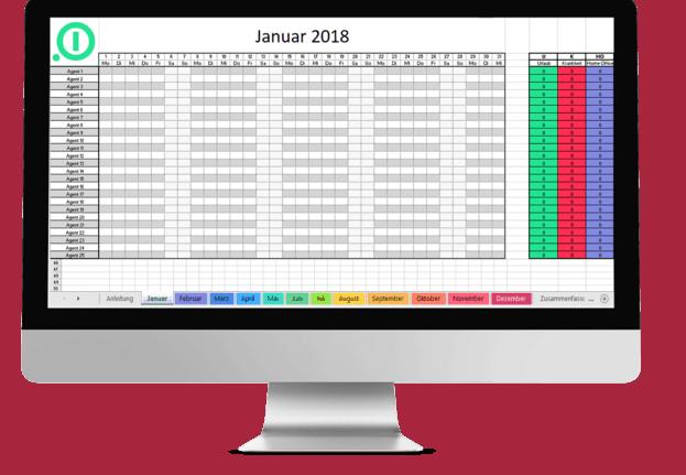 Urlaubsplaner Excel Vorlage auf dem Desktop