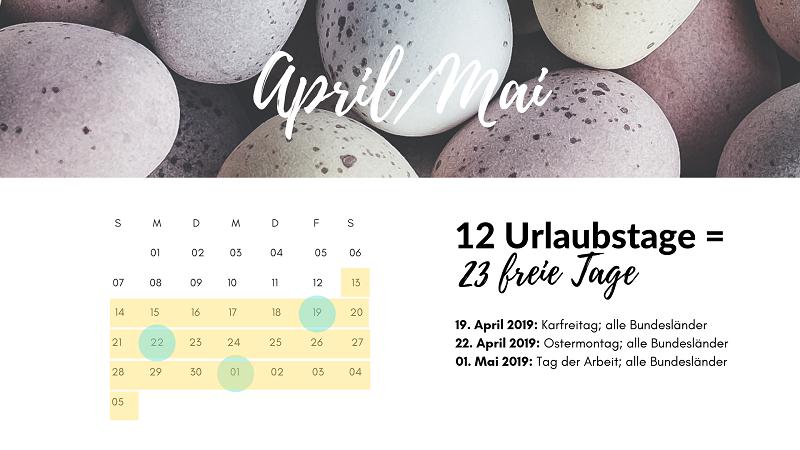 brückentage april mai 2019